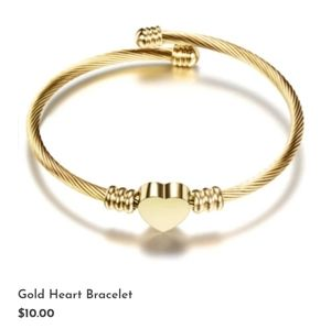 Heart Charm Cuff